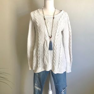 Anthropologie Ruby Moon Cable Sweater